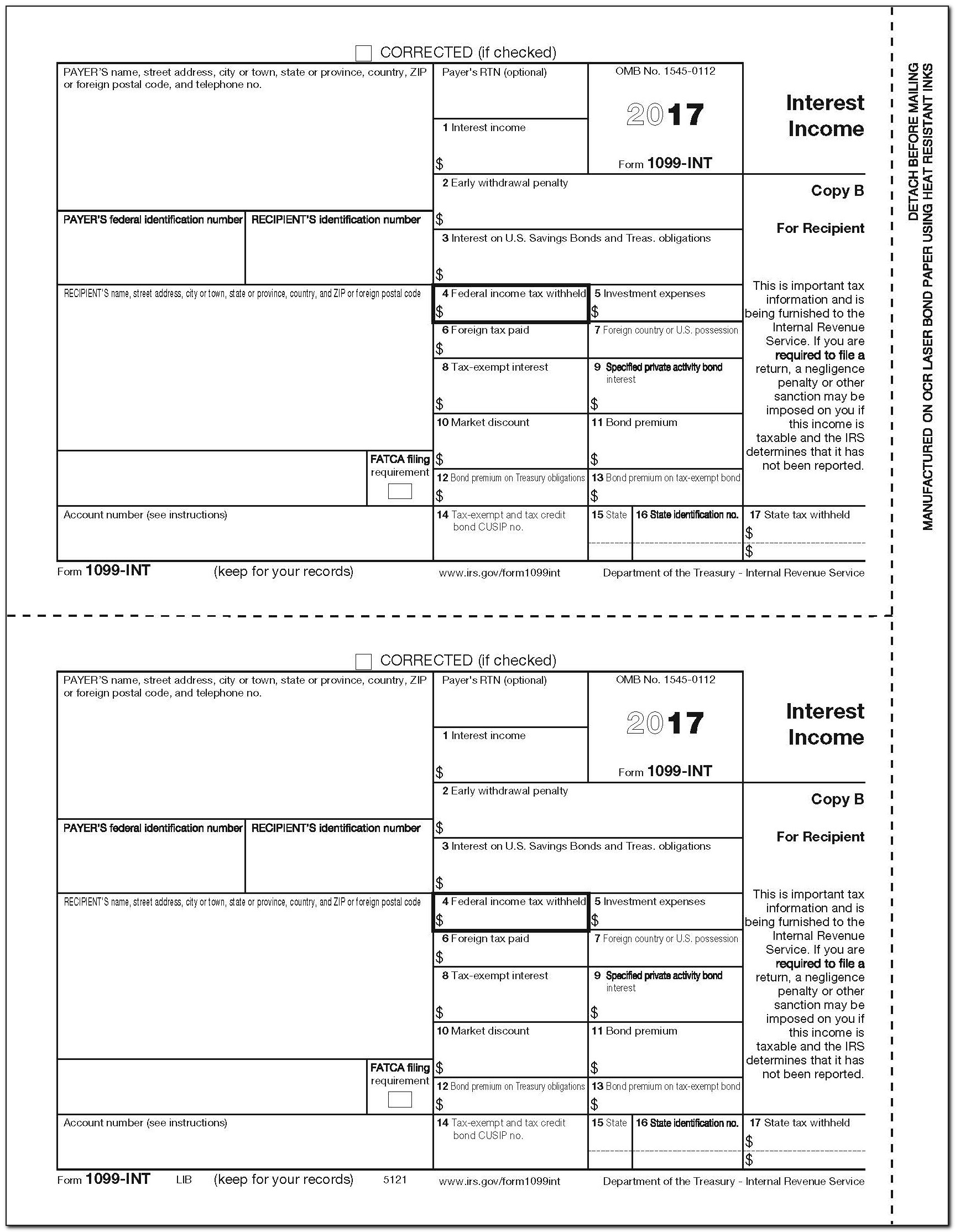 Irs Form 1099 Int 2018