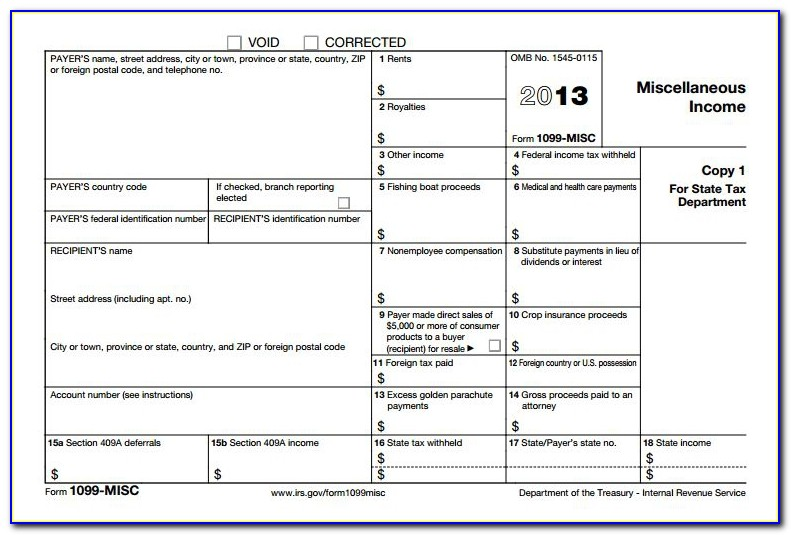 Irs Form 1099 Misc 2017