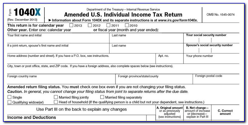 Irs Forms 1040x 2016