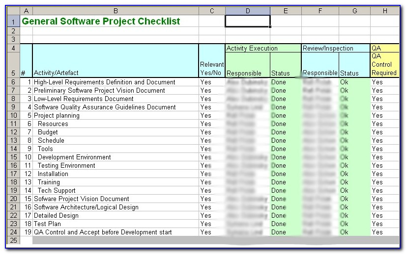 Iso 9001 Checklist Excel Template Free