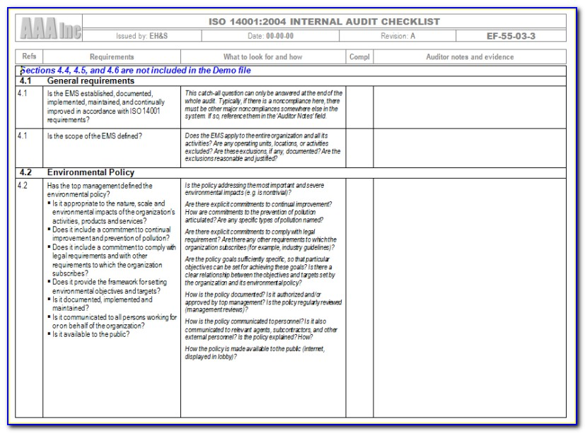 Iso 9001 Gap Analysis Checklist Free