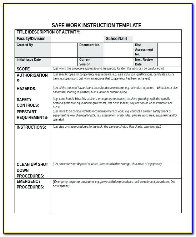 Iso 9001 Procedure Manual Template