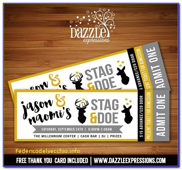 Stag Tickets Template Free Amazing Best 25 Jack And Jill Ideas On Pinterest