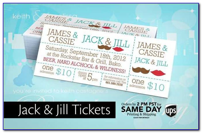 8 Best Jack And Jill Images On Pinterest Design From Jack And Jill Ticket Templates