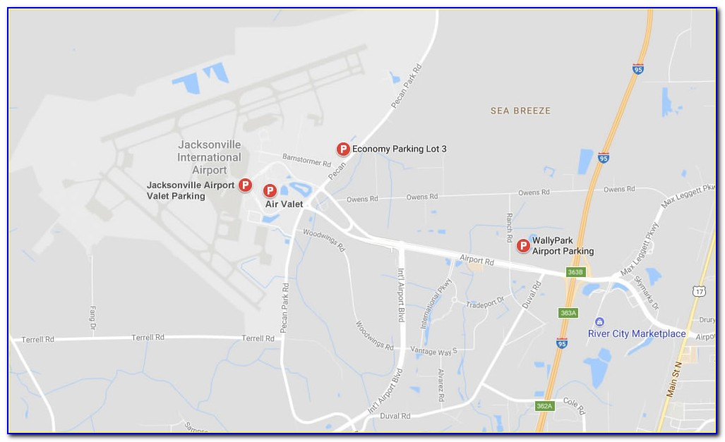 Jacksonville Airport Parking Map