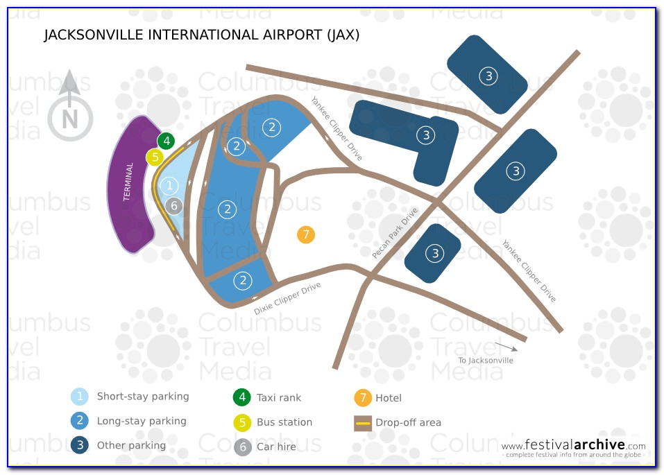 Jax Airport Parking Map