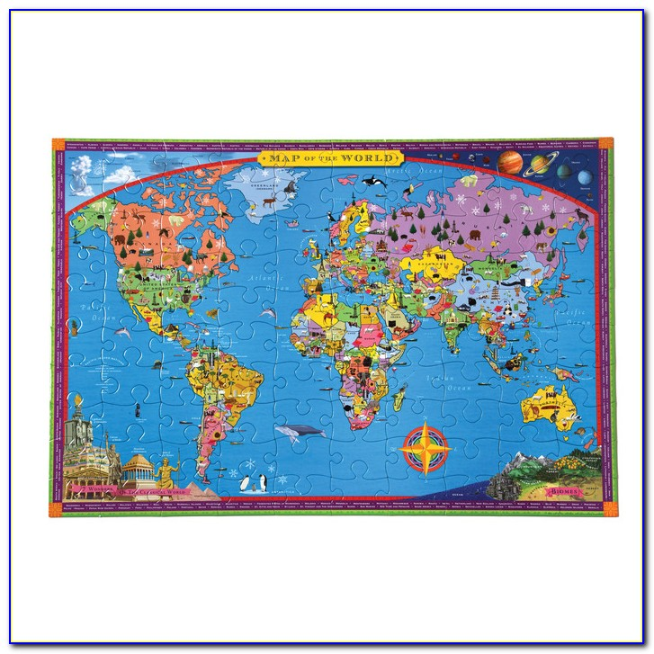 Jigsaw Puzzle Map Of United States