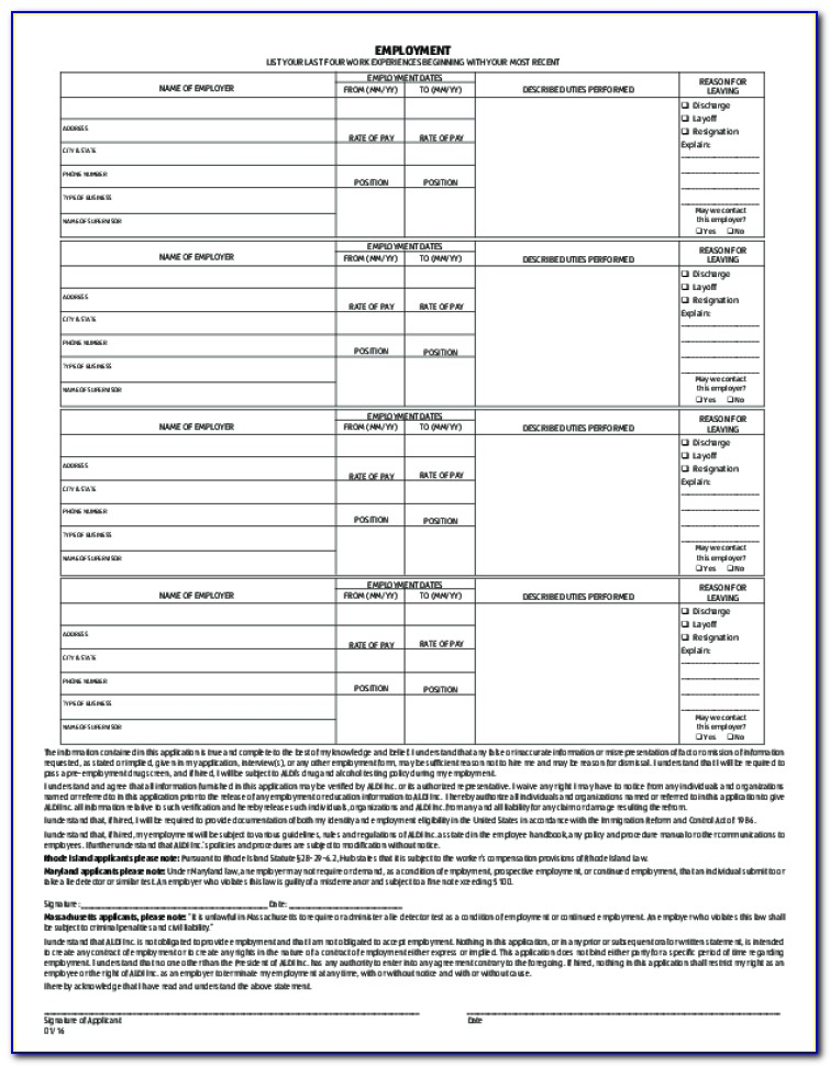 Job Application For Aldi Grocery Store