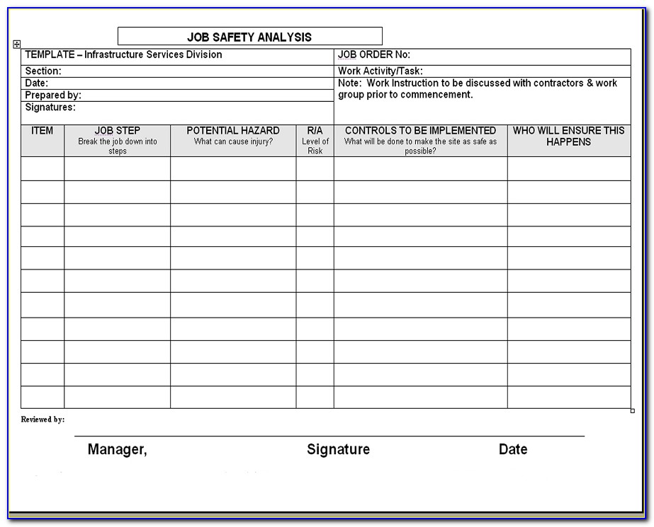 Job Safety Analysis Excel Templates | Exceldox | Excel Project Throughout Job Hazard Analysis Template