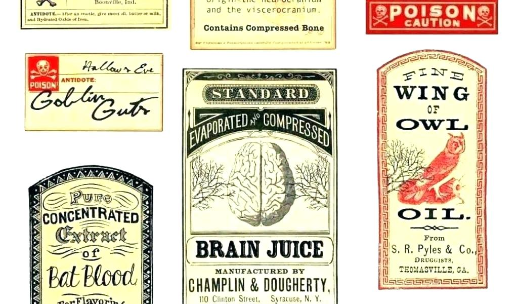 Juice Bottle Label Template Free Download