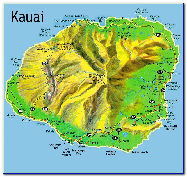 Kauai Hiking Trail Maps