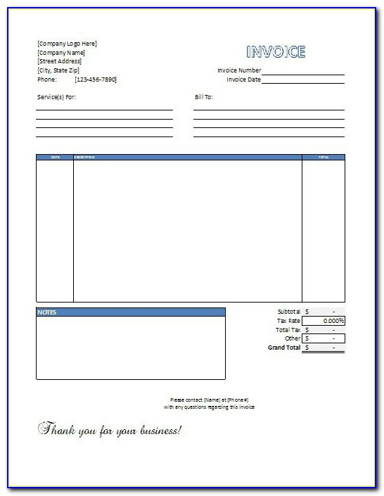 Free Excel Invoice Templates Free To Download Labor Invoice Template Free