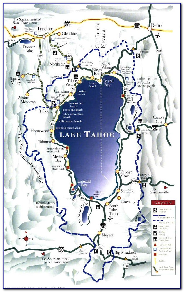 Lake Tahoe Trail Map Pdf