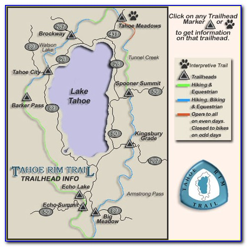 Lake Tahoe Trail Map Ski