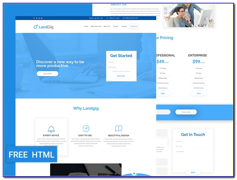 Landing Page Template Free 2018