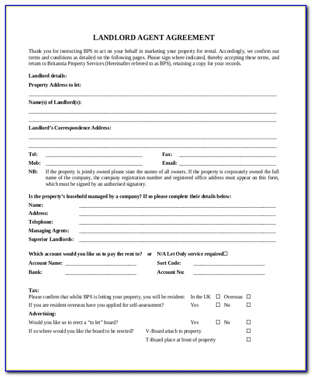 Landlord Lease Templates
