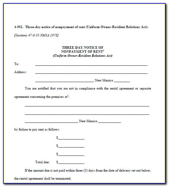 Landlord Notice To Vacate Forms
