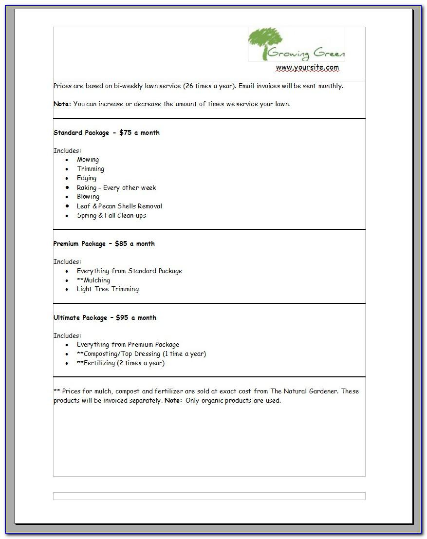 Landscaping Job Proposal Template