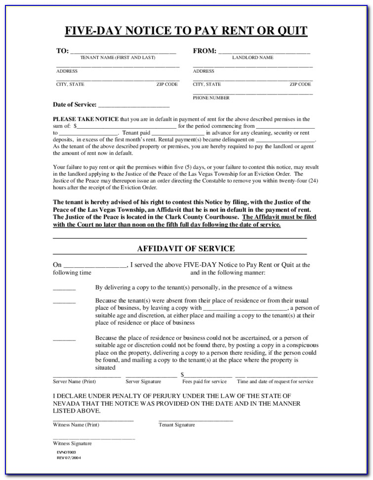 Las Vegas Constable Eviction Forms
