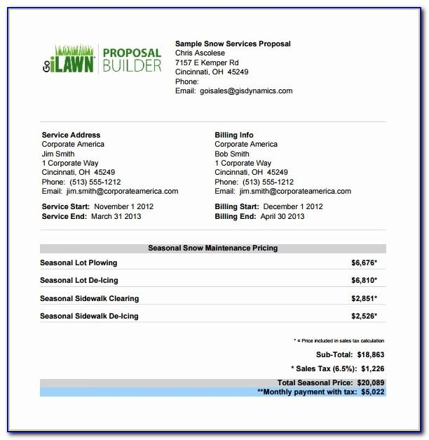 Lawn Care Proposal Template Free Vincegray2014