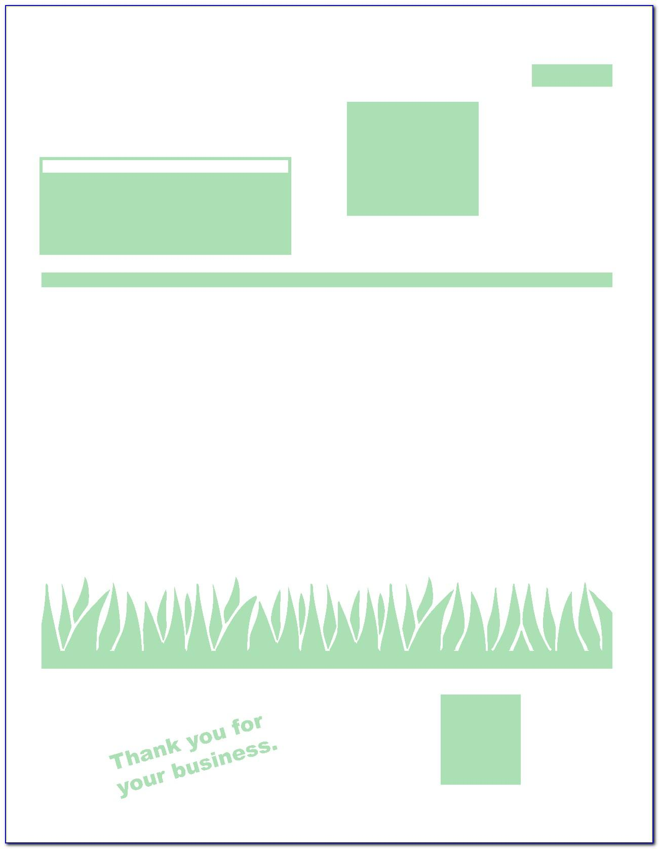 Lawn Maintenance Invoice Template