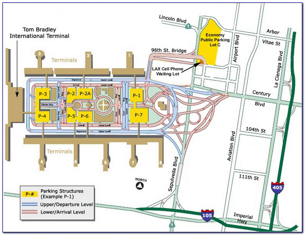Lax Long Term Parking Map