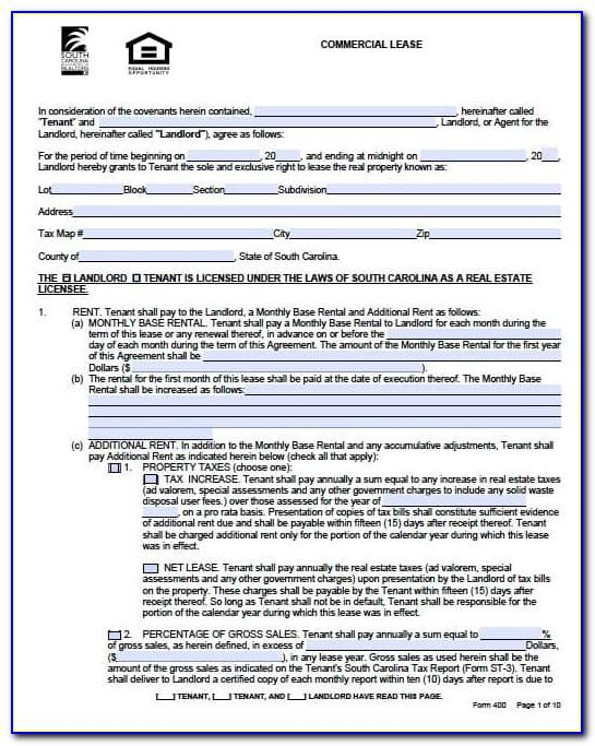 Lease Agreement Commercial Property Free Template