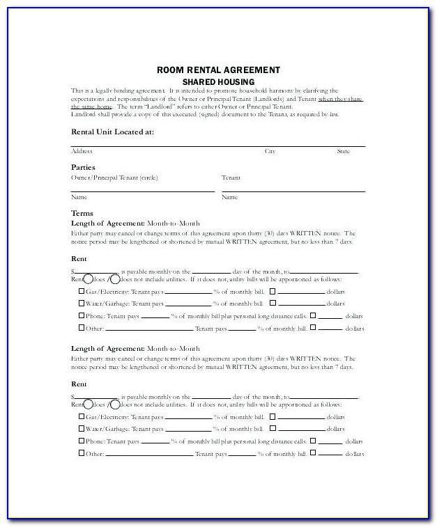 Lease Agreement Residential Template