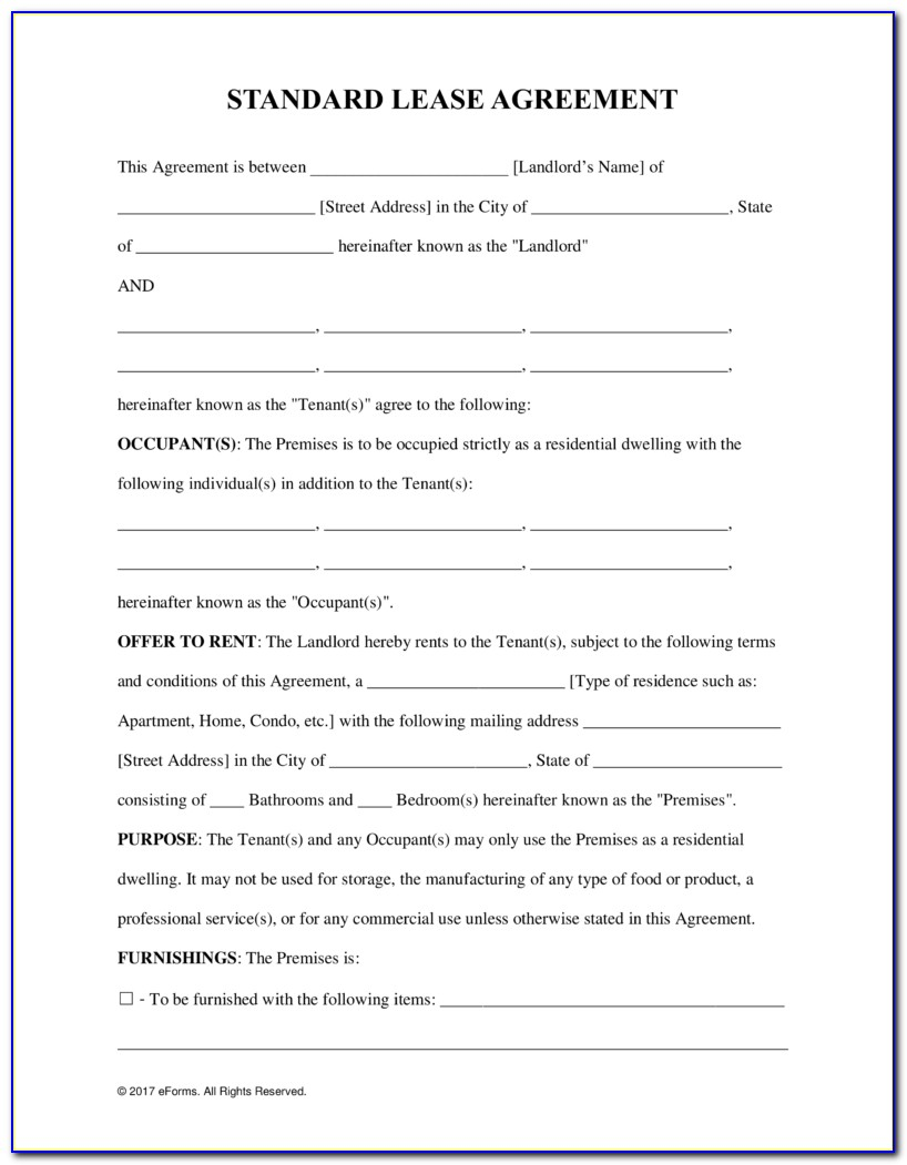 Lease Agreement Template Commercial