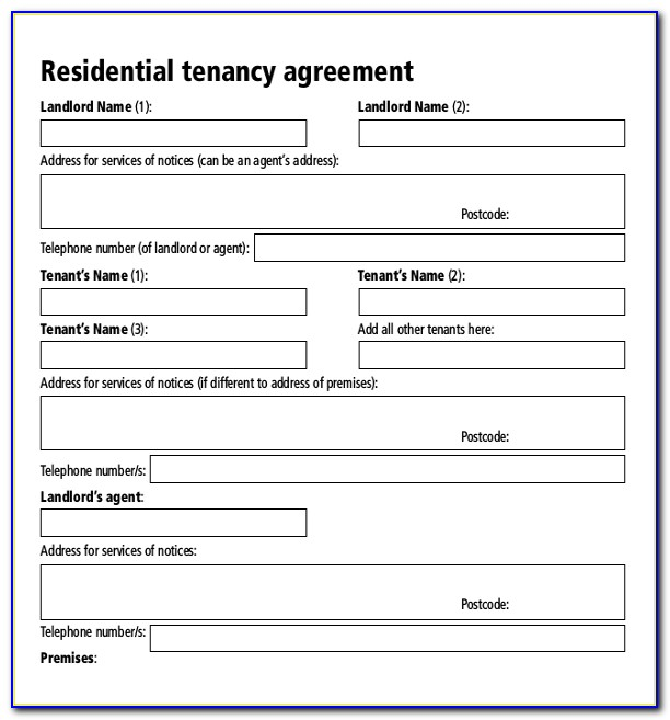 Lease Agreement Template Free Download South Africa