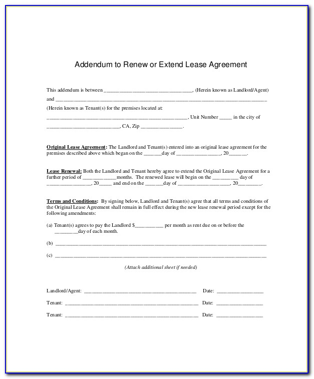Lease Extension Template Letter