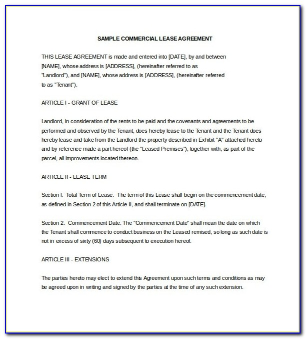 Commercial Lease Proposal Template Lease Template 18 Free Word Excel Inside Business Lease Proposal Letter