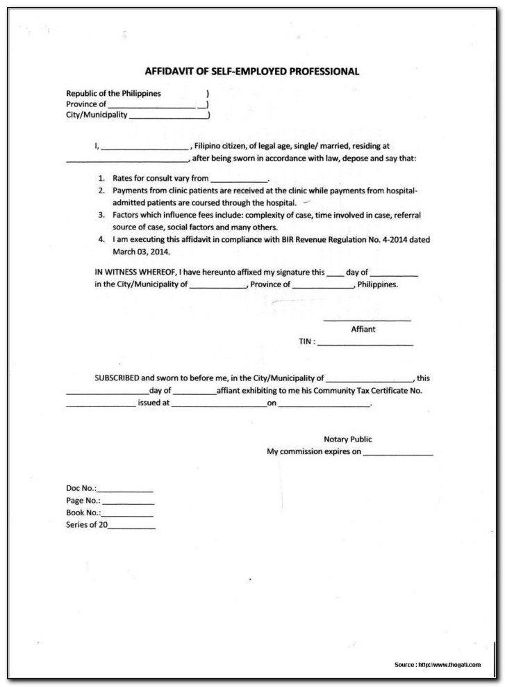 Legal Forms Affidavit Of Loss