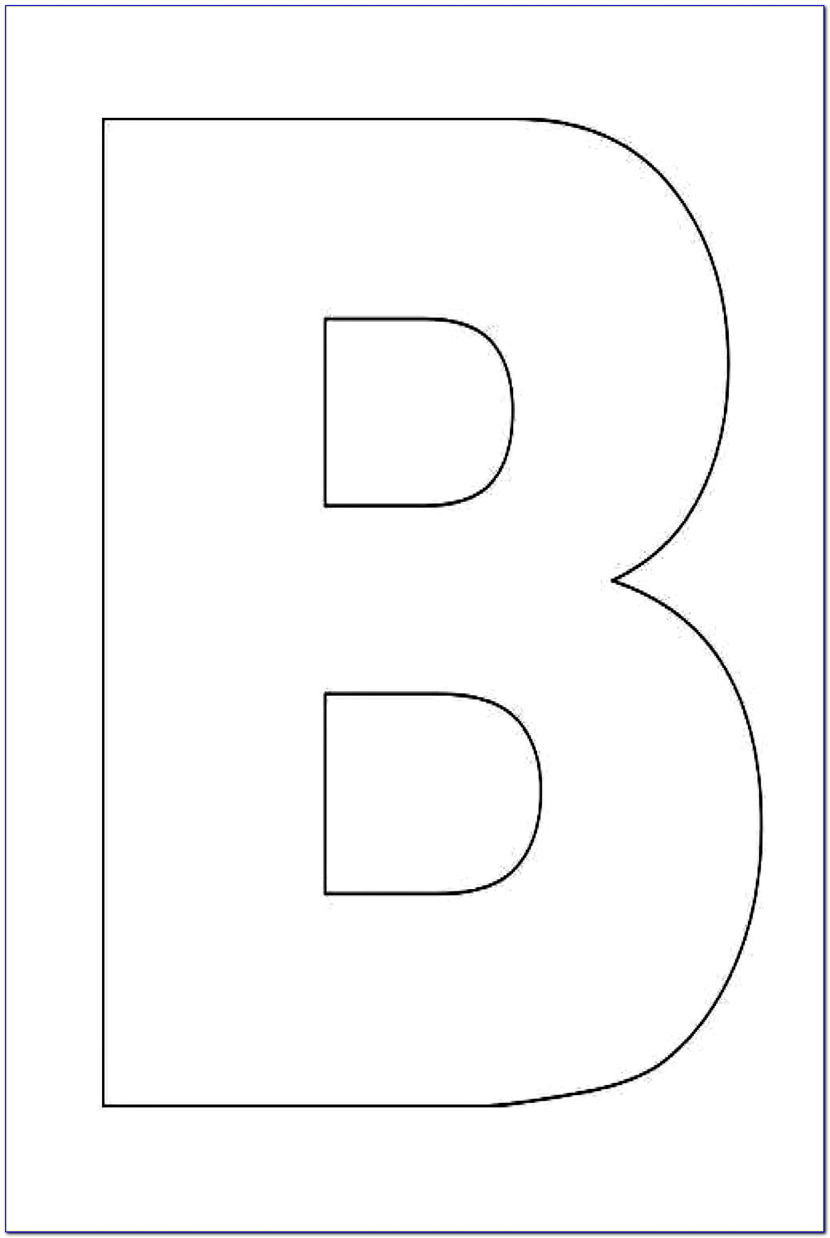 Free Printable Alphabet Stencils Templates Alphabet Letter B Template For Kids