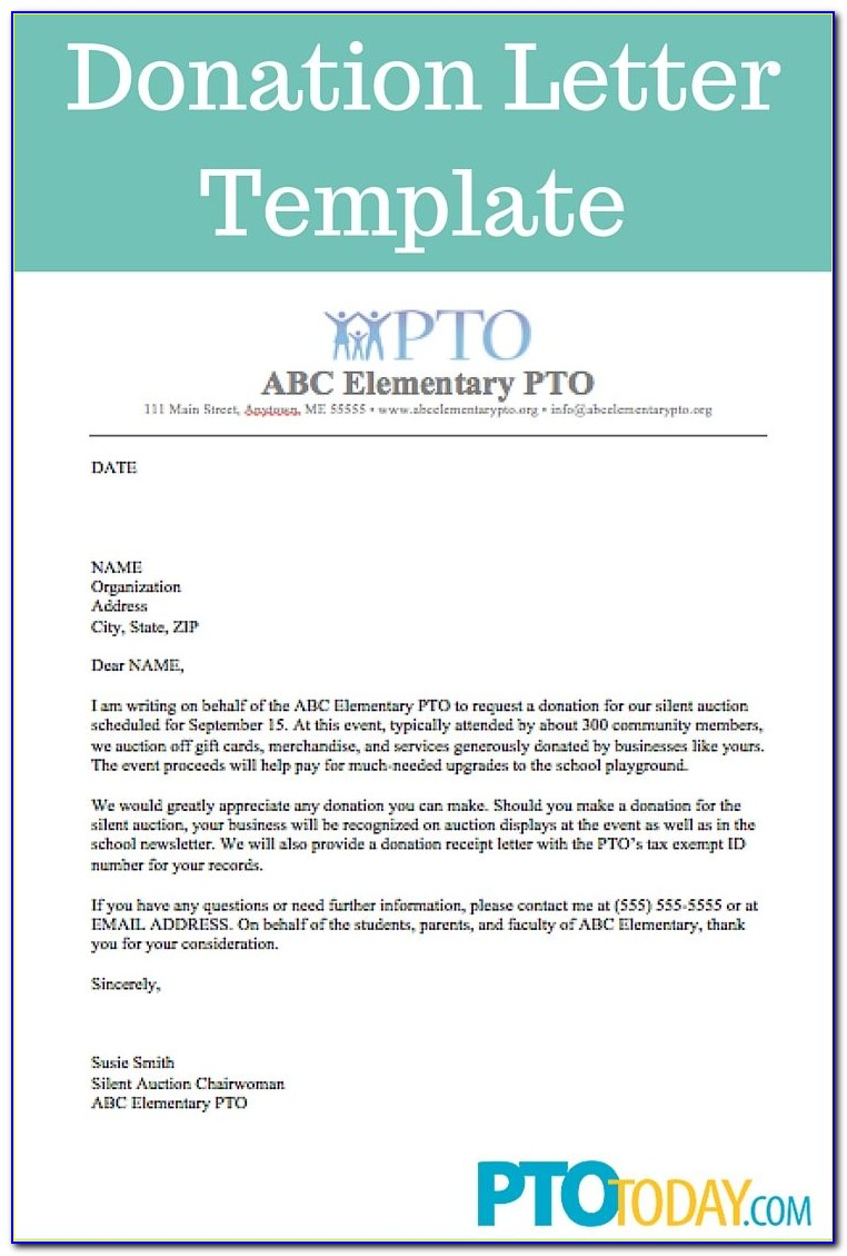 Letter Template For Donations Request