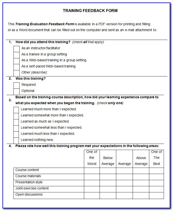 Life Coaching Evaluation Form Template