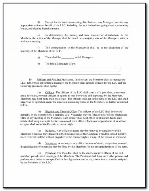 Limited Liability Partnership Agreement Form