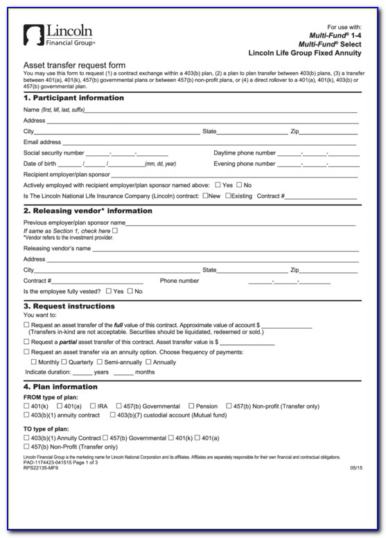 Lincoln National Life Insurance Company Forms