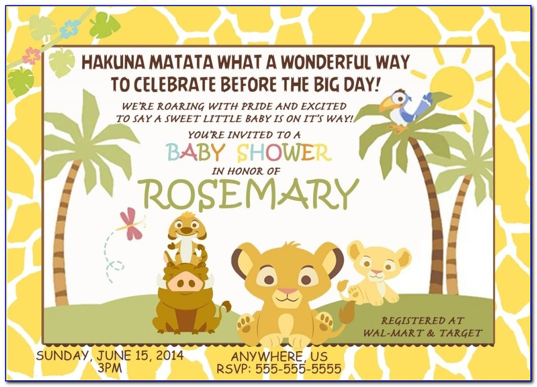 Lion King Themed Baby Shower Invitations | Futureclim For Custom Lion King Baby Shower Invitations