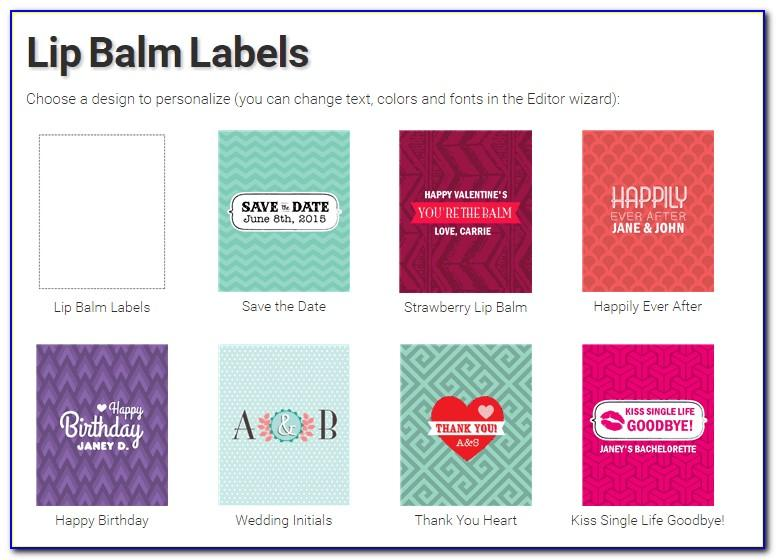 Lip Balm Labels Template