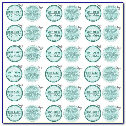Lip Balm Labels Templates