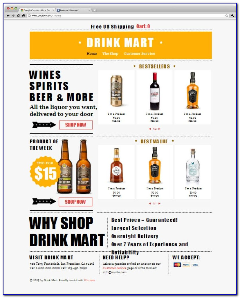 Liquor Store Website Template