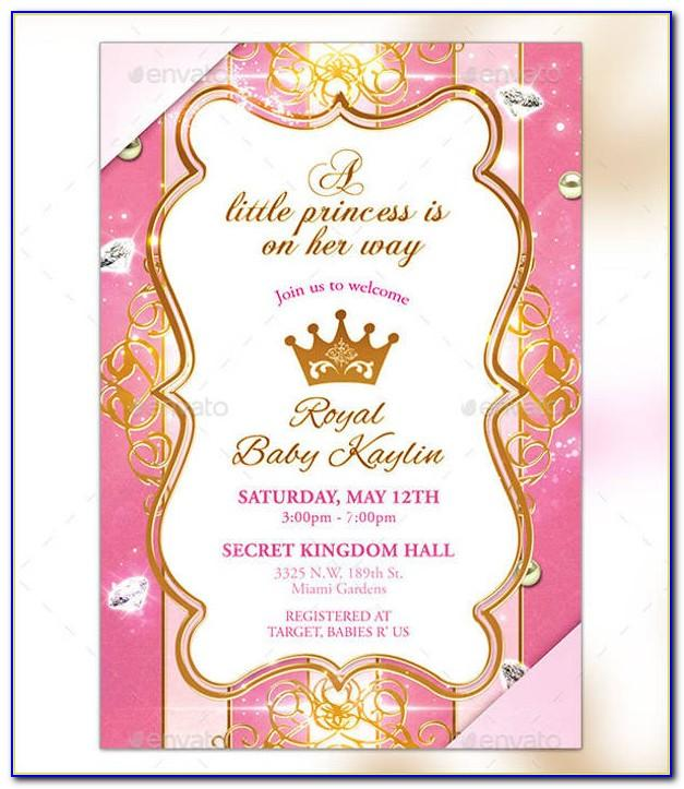 Little Princess Baby Shower Invitation Template