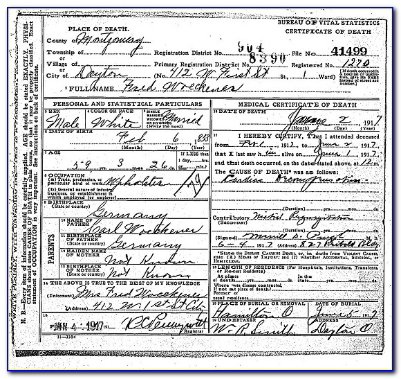 Livingston County Birth Certificate New Jeannette S Take On Life The Genealogy Of Mr Frederick Woeckener