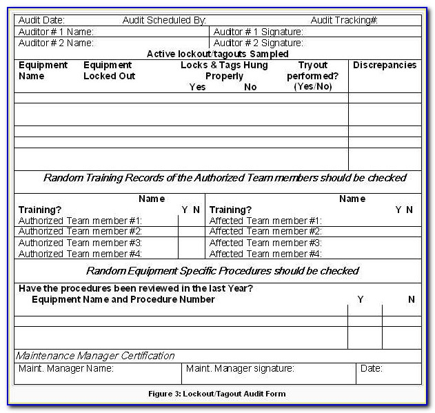 Lock Out Tag Out Procedures Template Ontario