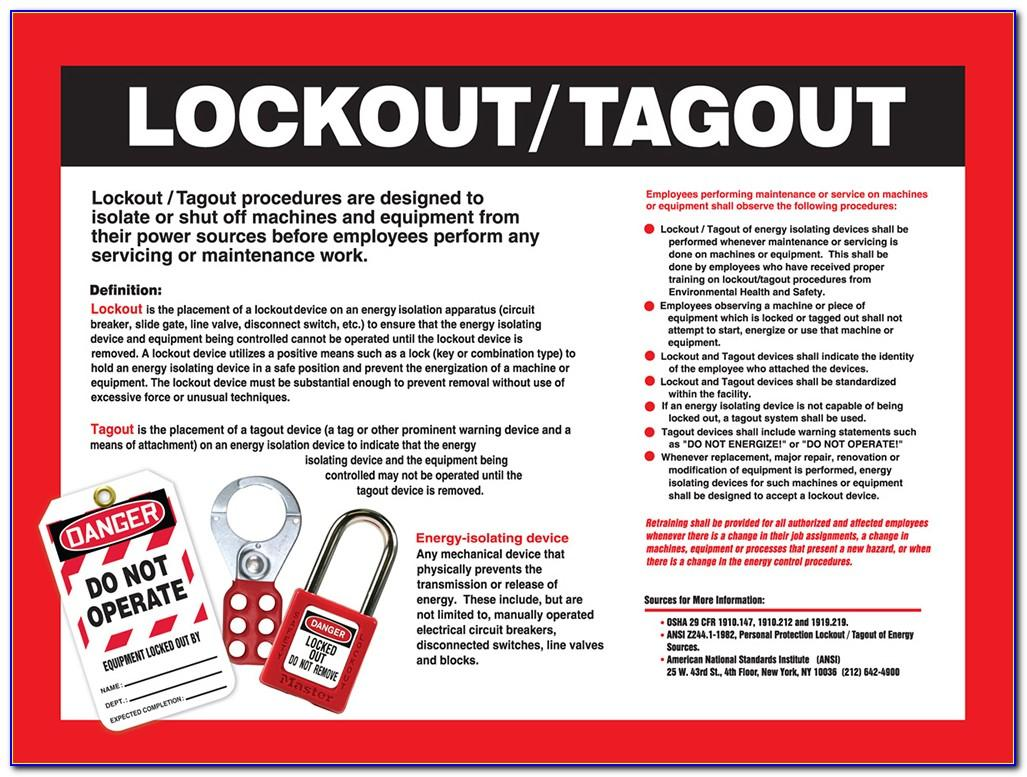 Lock Out Tag Out Written Program Template