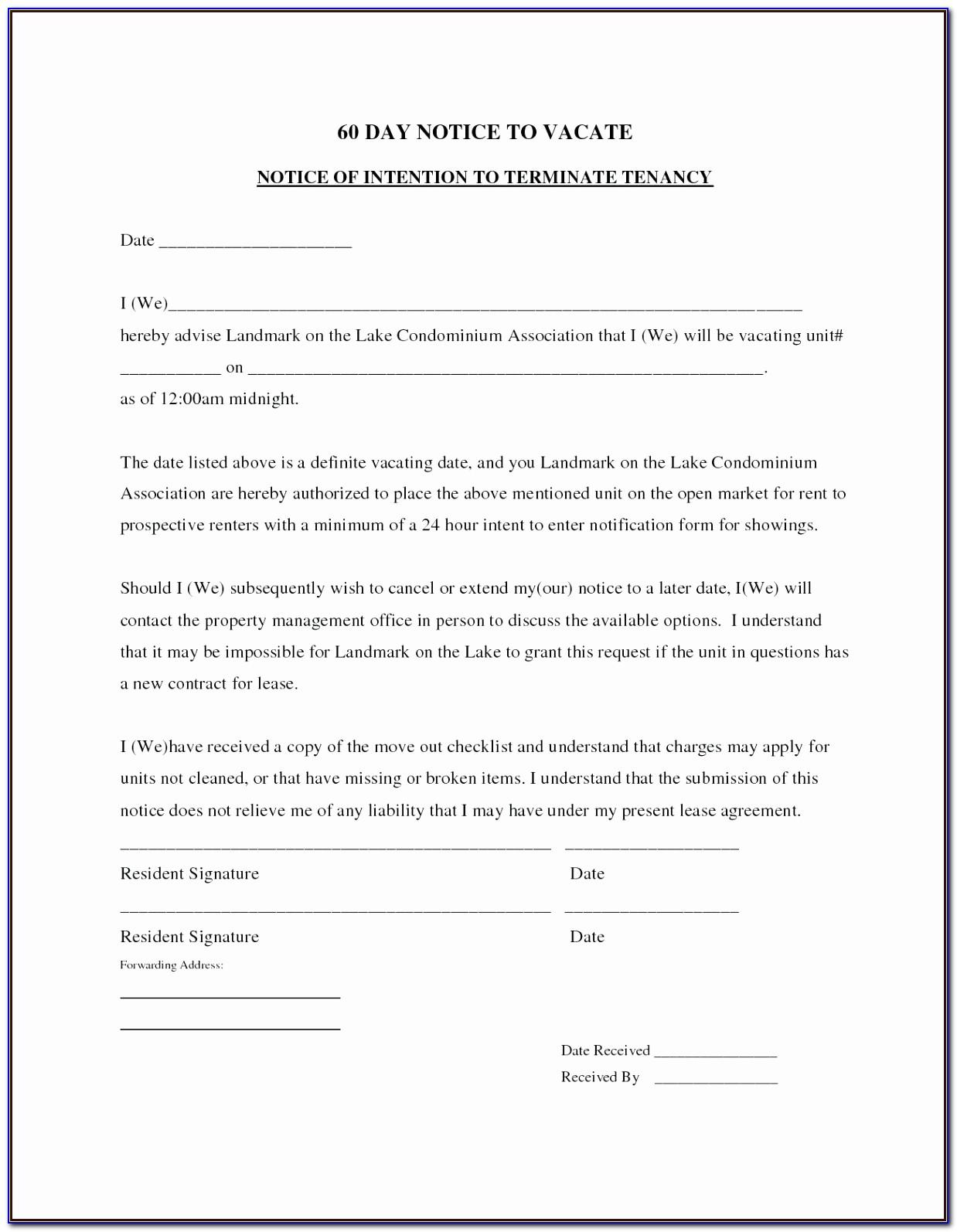 Lodger Eviction Notice Template