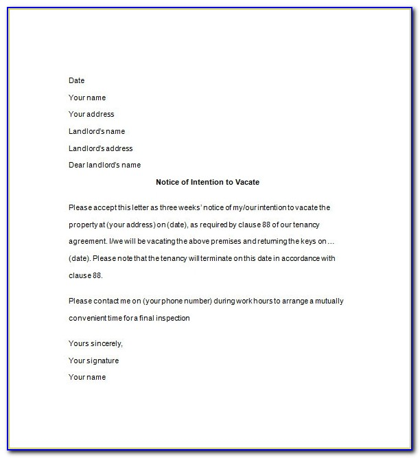 Notice To Quit Template 15 Free Samples Examples Format Quit Notice Letter Quit Notice Letter
