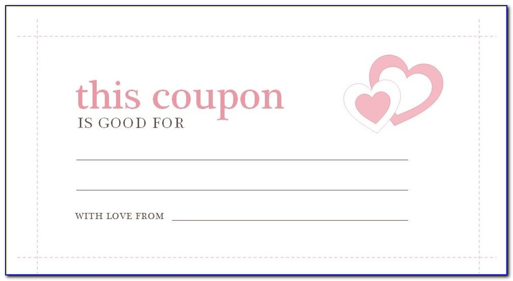Blank Coupon Template Printable Yun56.co Throughout Love Coupon Template Microsoft Word