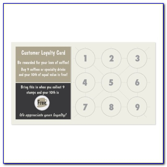 Loyalty Punch Card Examples